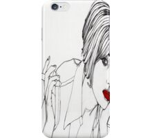 Girl with the Mont Blanc iPhone Case/Skin