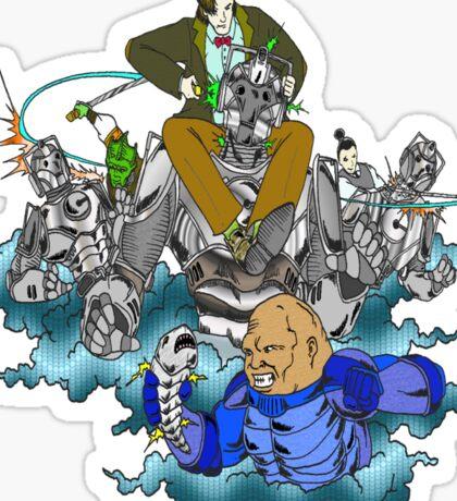 Doctor Who vs the Cybermen Sticker