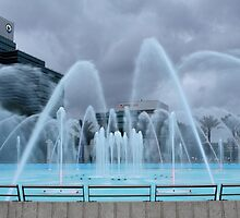Stormy Weather at Friendship Fountain by Carol Bailey White
