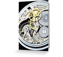 Hamilton 4992B 24 hour aviator pocket watch Greeting Card