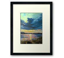 love Irish sky Framed Print