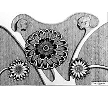 244 - LOVE BLOSSOMS - DAVE EDWARDS - PEN & INK - 2013 Photographic Print