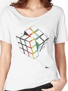 rubix cube t-shirt design  Women's Relaxed Fit T-Shirt