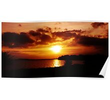 Sunset lough Poster