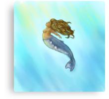 Humpback Mermaid Canvas Print