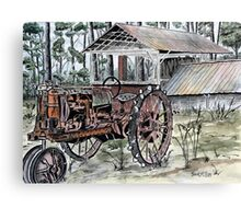farm tractor vintage art print Canvas Print