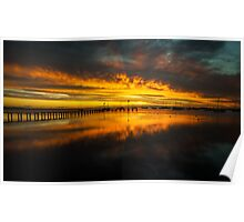 Corio Bay Sunrise Poster