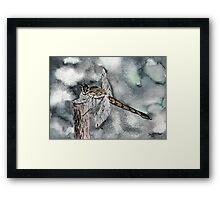 Dragonfly modern art print Framed Print