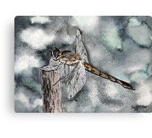 Dragonfly modern art print Canvas Print