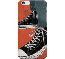 Hi-top shoes print poster art painting punk iPhone Case/Skin