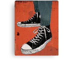 Hi-top shoes print poster art painting punk Canvas Print