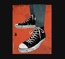 Hi-top shoes print poster art painting punk Unisex T-Shirt