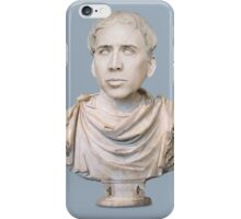 Classy Nicolas Cage Marble Bust  iPhone Case/Skin