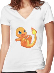 Chibi charander Women's Fitted V-Neck T-Shirt