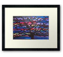 Knowledgeable Origin Tree Silhouette Framed Print