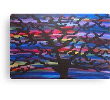 Knowledgeable Origin Tree Silhouette Canvas Print