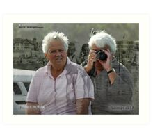 Meeting up in Sydney ~ cousins, born in the Netherlands Art Print