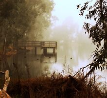Fishing Bridge By Lorraine McCarthy by Lozzar Landscape