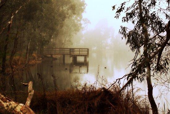 Fishing Bridge By Lorraine McCarthy by Lozzar Landscape
