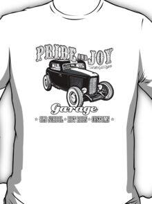Pride and Joy Hot Rod Garage white bkg T-Shirt