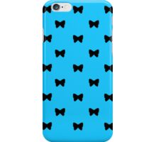 Black and Blue Bows iPhone Case/Skin