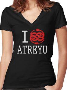 I (Auryn) Atreyu Women's Fitted V-Neck T-Shirt