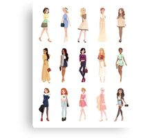 Trendy Princesses Metal Print