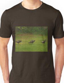 Turkey's In A Row         Pentax ( X-5 ) Digital Camera Unisex T-Shirt