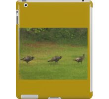Turkey's In A Row         Pentax ( X-5 ) Digital Camera iPad Case/Skin