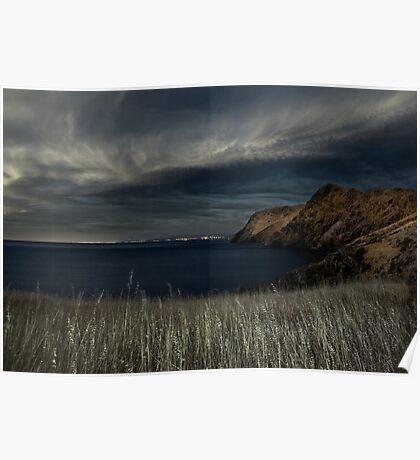Fleurieu Peninsula Coastline in Moonlight Poster