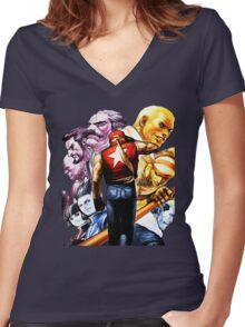 Fatal Fury Boss Rush Women's Fitted V-Neck T-Shirt