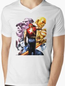 Fatal Fury Boss Rush Mens V-Neck T-Shirt