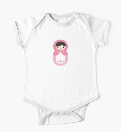 Matryoskha Doll - Bubblegum Pink One Piece - Short Sleeve