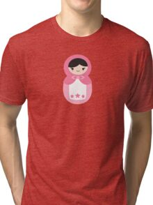 Matryoskha Doll - Bubblegum Pink Tri-blend T-Shirt