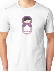 Matryoskha Doll - Grape Juice Purple Unisex T-Shirt