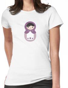 Matryoskha Doll - Grape Juice Purple Womens Fitted T-Shirt
