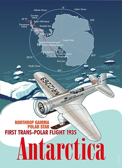 Antarctica Northrop Gamma by contourcreative