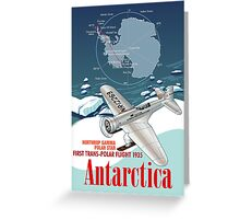 Antarctica Northrop Gamma Greeting Card