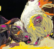 cows together 14 by Go van Kampen