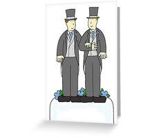 Gay male wedding Greeting Card