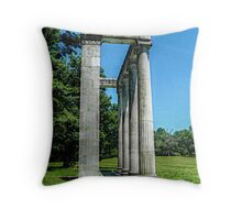 The Colonnade At Princeton Battlefield Throw Pillow