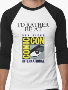 I'd Rather Be At Comic-Con Men's Baseball ¾ T-Shirt