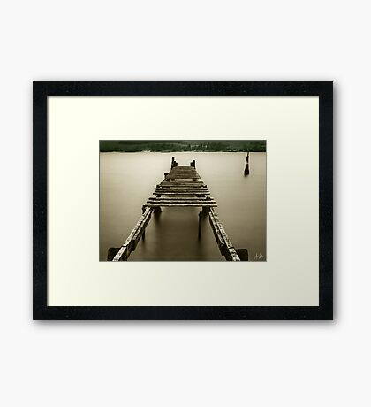 Jetty at Fort William Framed Print