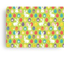 Rabbits & Chickens Canvas Print