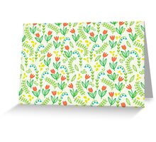 Floral meadow Greeting Card