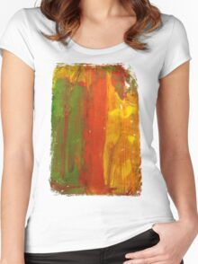 Screen Print Women's Fitted Scoop T-Shirt
