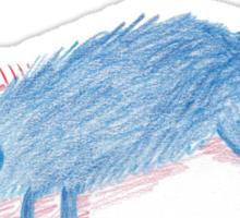Blue Sleeping Dog Sticker