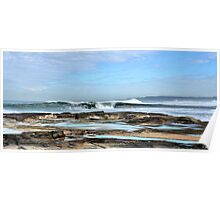 Rolling In - Newcastle Beach NSW Australia Poster