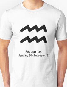 Zodiac sign Aquarius January 20 - February 18 T-Shirt