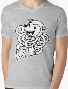 Noodle Fox Mens V-Neck T-Shirt